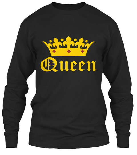 Queen Black T-Shirt Front
