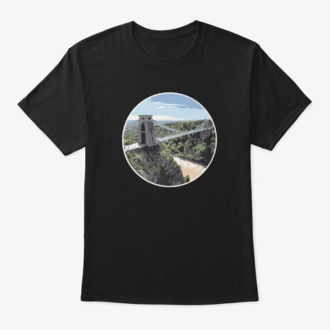 Clifton Suspension Bridge   Bristol Black T-Shirt Front