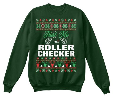 Trust Me I'm A Roller Checker Deep Forest  T-Shirt Front