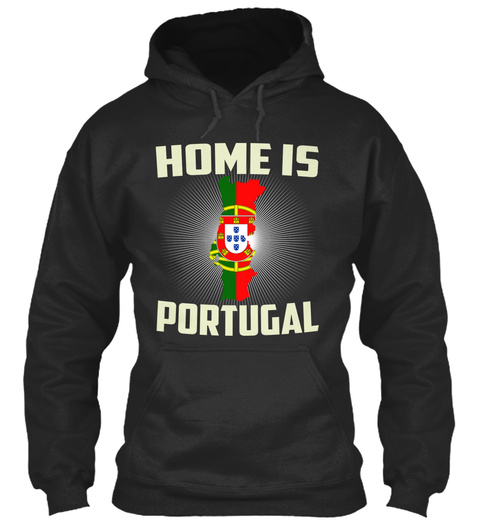 Home Is Portugal Jet Black Sweatshirt Front