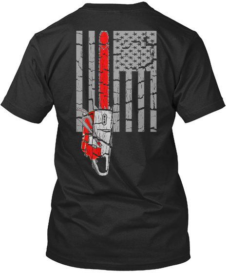 American Chainsaw Black Camiseta Back