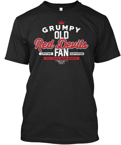 Red Devils   Fan Black T-Shirt Front