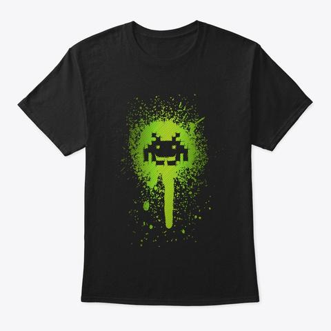 Space Blotch Black T-Shirt Front