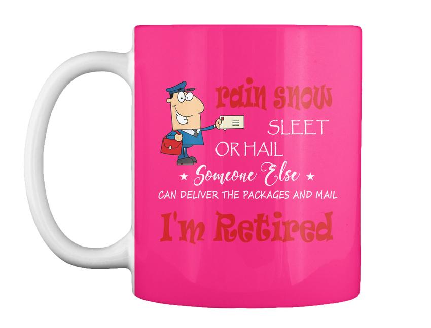 miniature 15 - Funny Retired Postal Worker Mailman Tee - Rain Suck Sleet Or Gift Coffee Mug