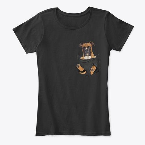 Boxer Pocket T Shirt  Black T-Shirt Front