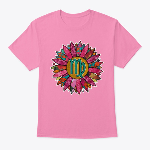 Pretty In Pink Virgo Pink T-Shirt Front