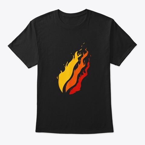 Fire Nation Video Gamer T Shirt Flame T Black T-Shirt Front