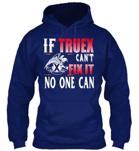 If Truex  Can't Fix Oxford Navy T-Shirt Front