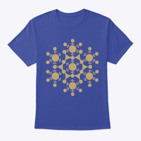Crop Circles Deep Royal T-Shirt Front