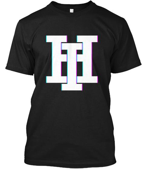 ही Black T-Shirt Front