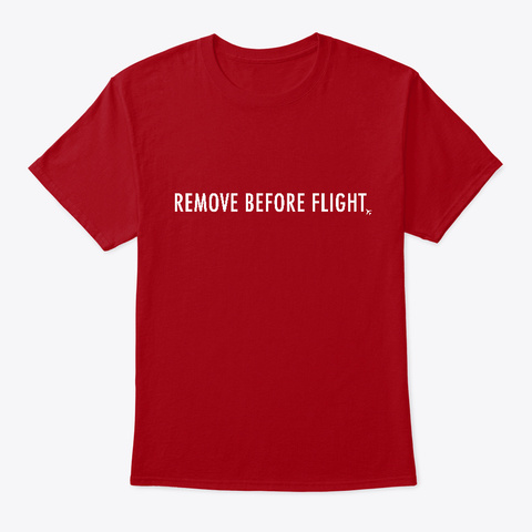 Remove Flag Deep Red T-Shirt Front