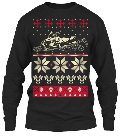 The Sledder Christmas Shirt Black Kaos Front