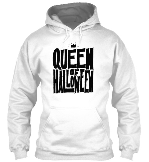 Queen Of Halloween White T-Shirt Front