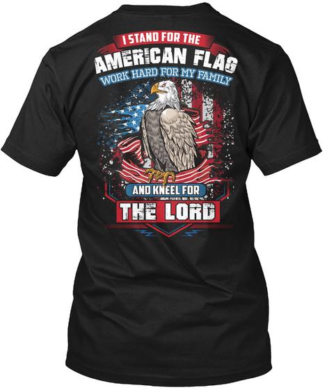 Farrier Stands For The Flag Black T-Shirt Back