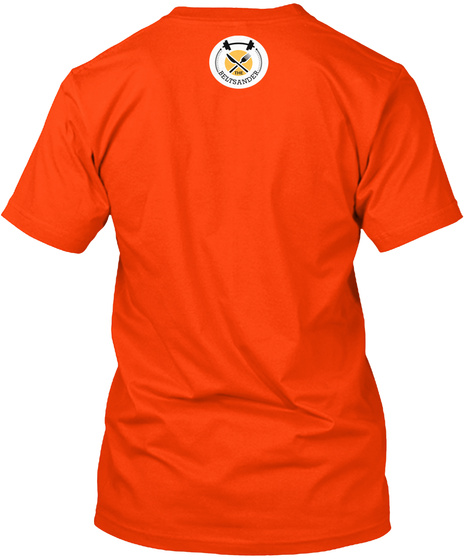 Carbohydrates T Shirts Orange T-Shirt Back