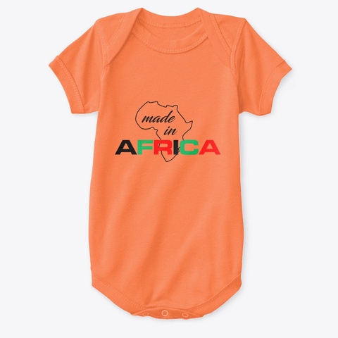Made In Africa Orange T-Shirt Front