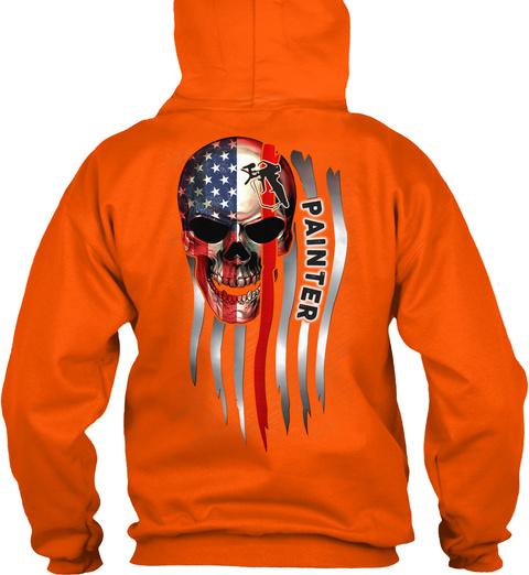 Sarcastic Painter Safety Orange T-Shirt Back