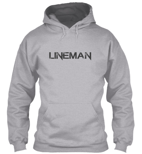 Lineman Sport Grey T-Shirt Front
