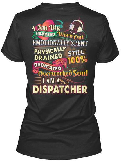 Awesome Dispatcher Shirt Black T-Shirt Back