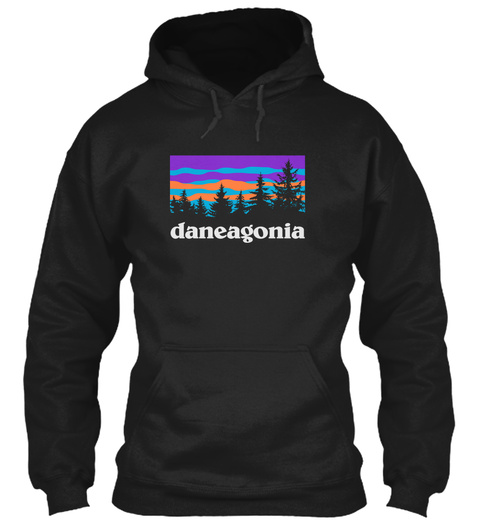Dane Family Hiking And Camping Black T-Shirt Front