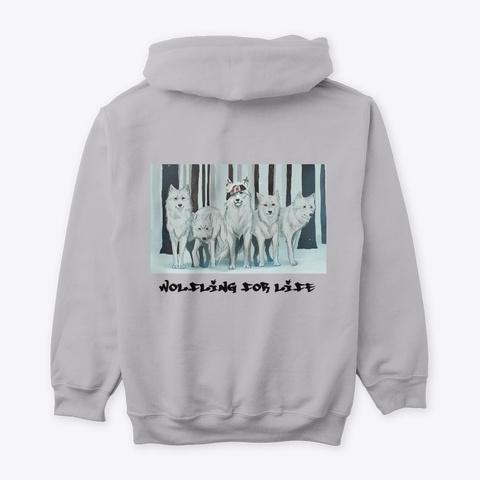 Wolfling For Life Merch Sport Grey T-Shirt Back