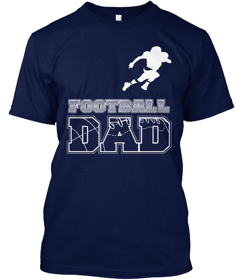 Football Dad Navy T-Shirt Front