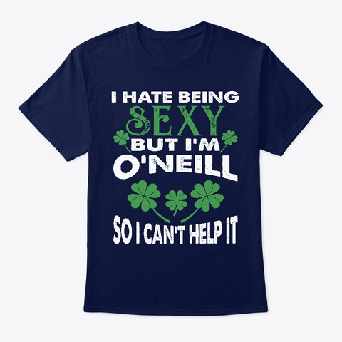 Being Sexy Oneill Irish St Patricks Navy T-Shirt Front