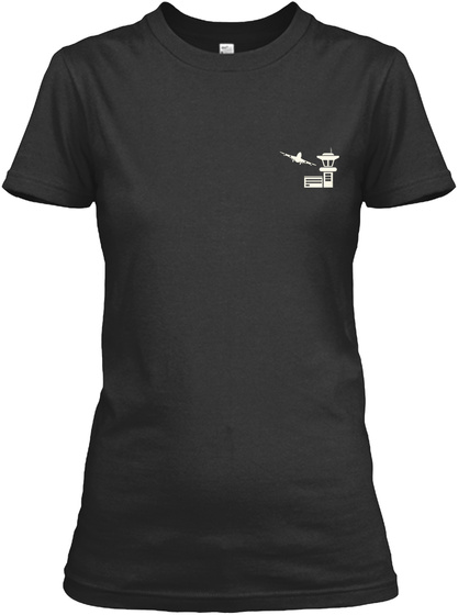 Proud Air Traffic Controller's Mom Shirt Black T-Shirt Front