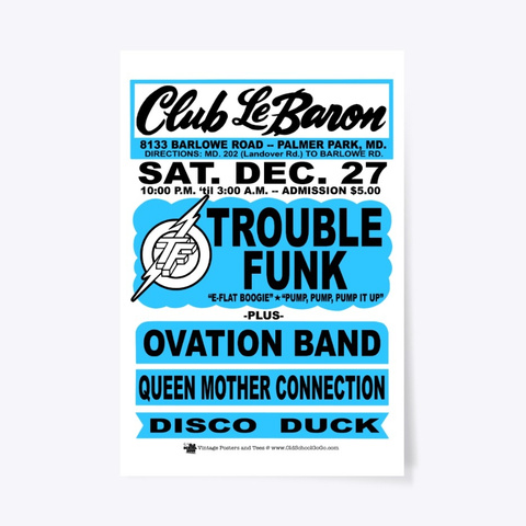 Trouble, Ovation   Club Lebaron   Poster White T-Shirt Front