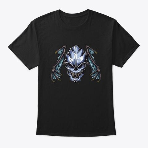 Demon Skull Black T-Shirt Front