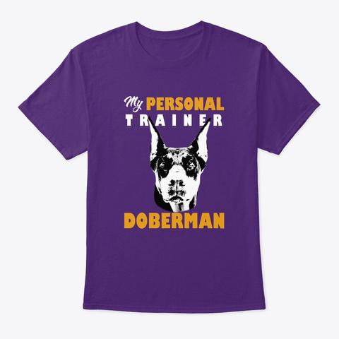 Personal Trainer Is Doberman T Shirt Purple T-Shirt Front