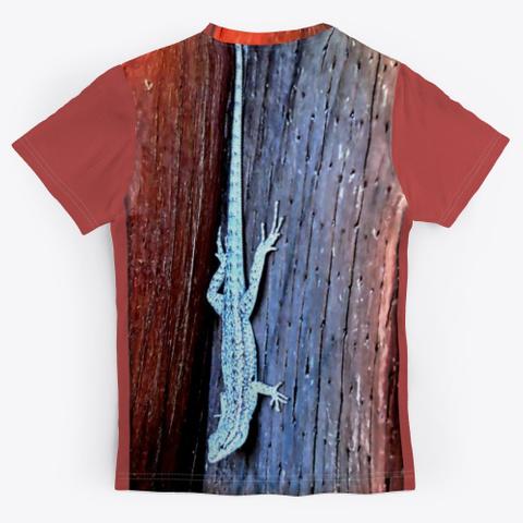 Side Blotched Lizard Burgundy T-Shirt Back