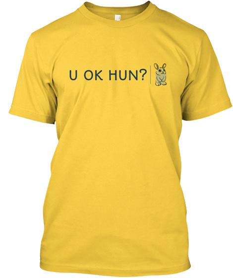 U Ok Hun?  Yellow T-Shirt Front