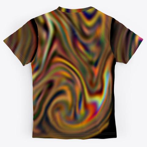 Color Spectrum Art Fonts Standard T-Shirt Back