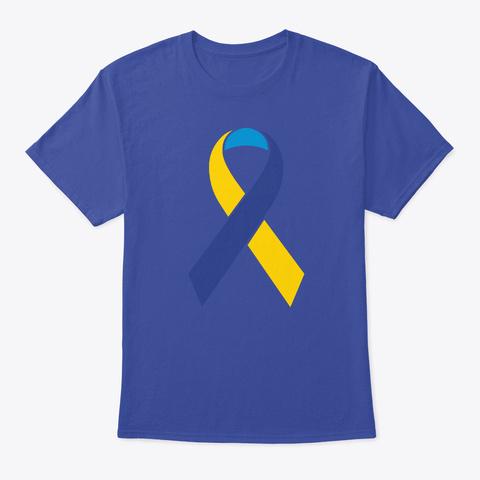 Custom Color Cause Awareness Ribbon 3 C Deep Royal T-Shirt Front