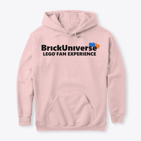 Adult Hoodie Light Pink T-Shirt Front
