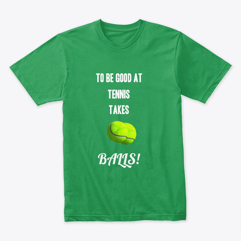 Tennis Balls Sport Shirt Kelly Green T-Shirt Front