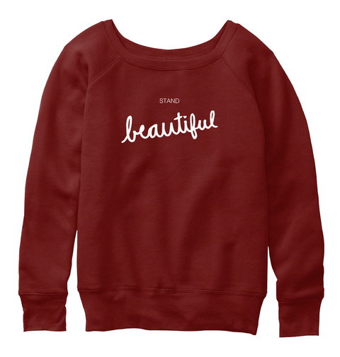 Stand Beautiful 2017 Dark Red Triblend T-Shirt Front
