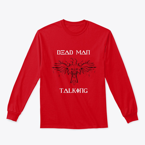 The Dead Man Talking Greek Wolf Edition! Red T-Shirt Front