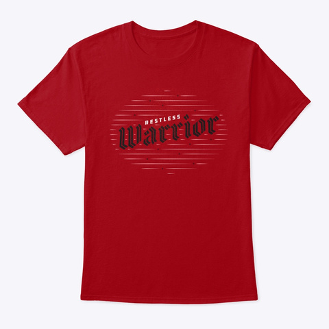 Warrior // Red Deep Red T-Shirt Front