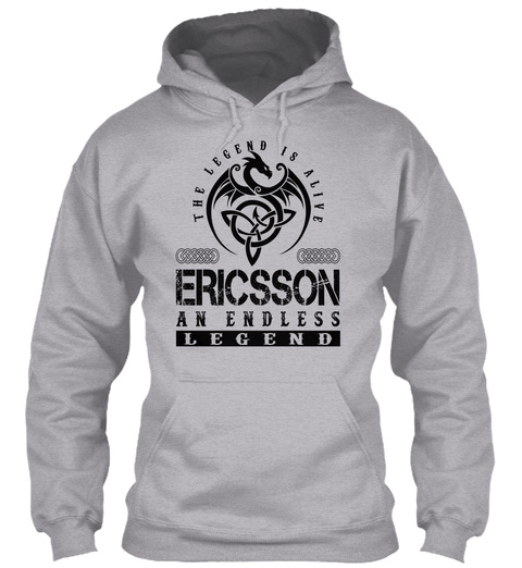 Ericsson   Legends Alive Sport Grey T-Shirt Front