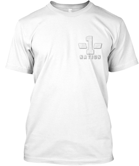 Nation 1 White T-Shirt Front