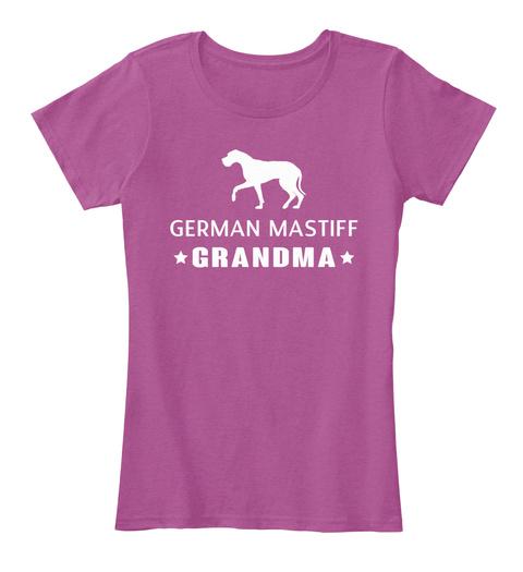 German Mastiff Heathered Pink Raspberry T-Shirt Front