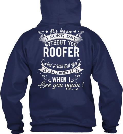 Roofer Navy T-Shirt Back