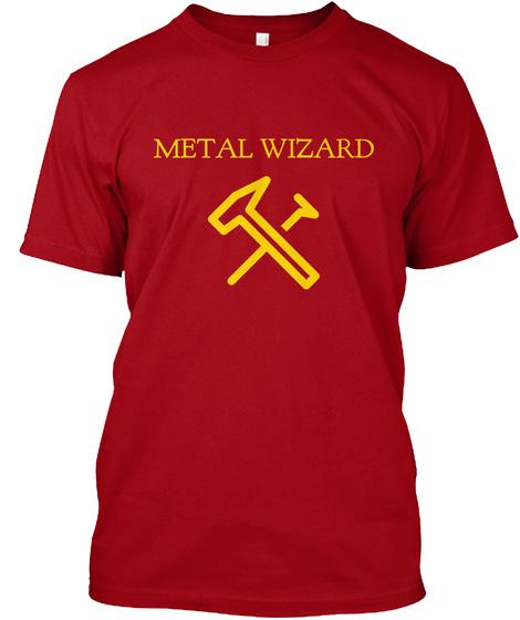Metal Wizard Deep Red T-Shirt Front