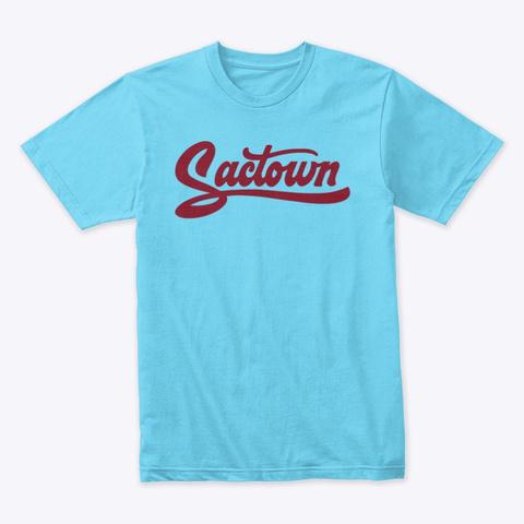 Sactown   Lion's Pride Burgundy Tahiti Blue T-Shirt Front
