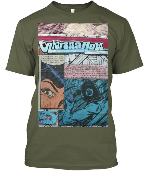 """It Isn't A Joke At All"" Tee Military Green T-Shirt Front"