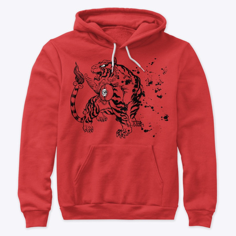 Inktober19   Tiger Red T-Shirt Front