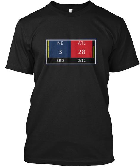 Ne 3 3rd Atl 28 2:12 Black T-Shirt Front