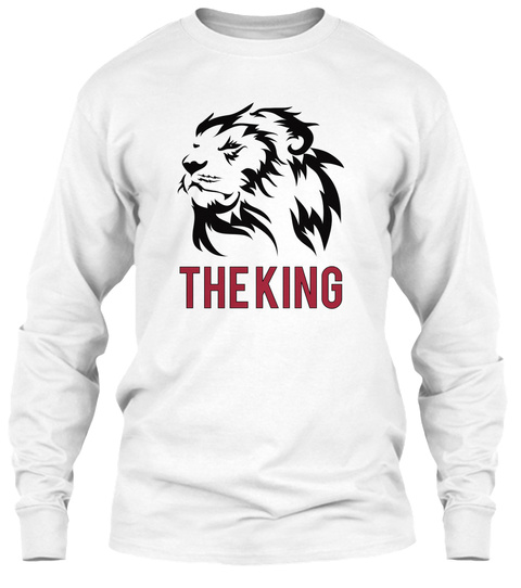 The King White Long Sleeve T-Shirt Front